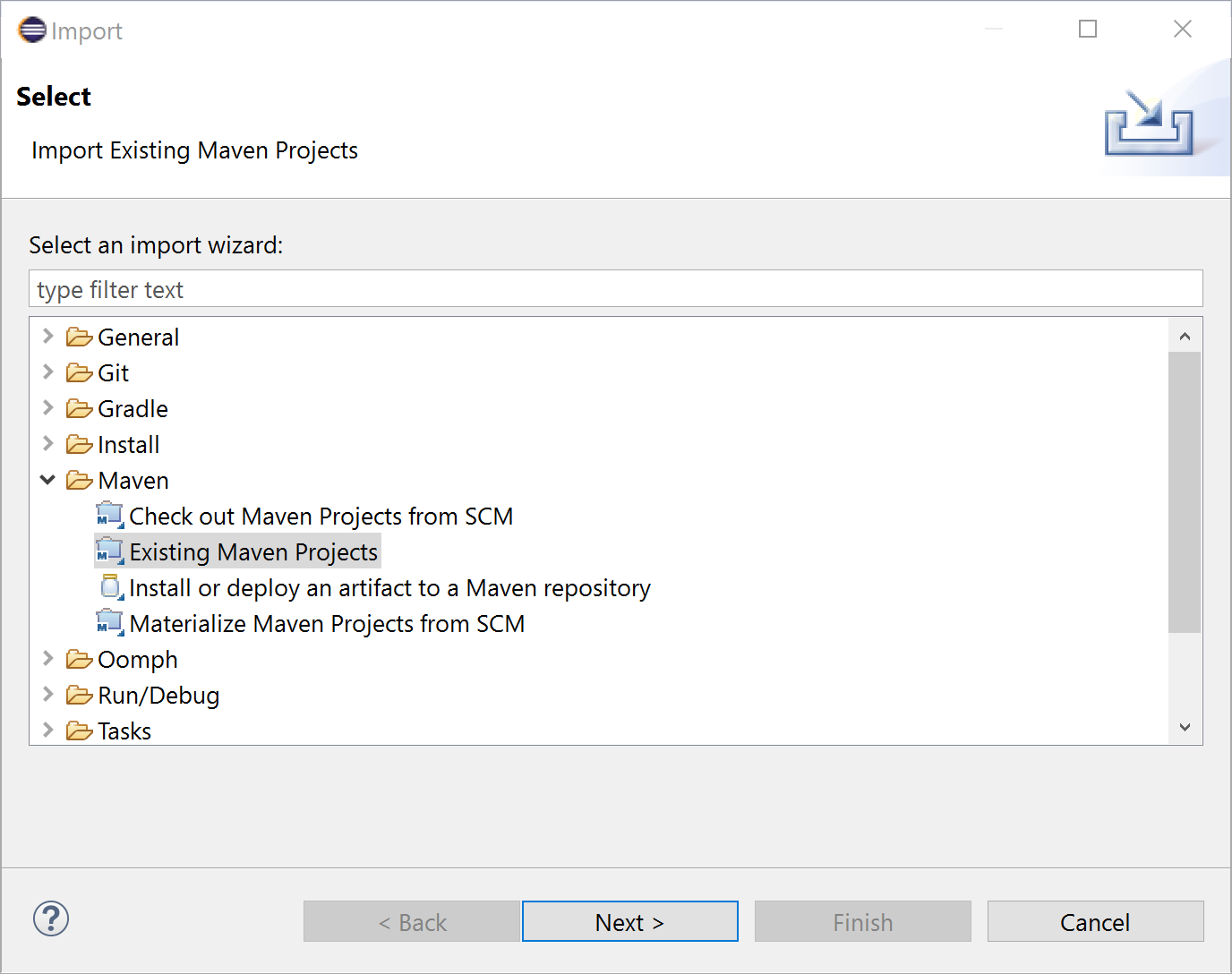 Lagom - Importing an existing Maven project into Eclipse