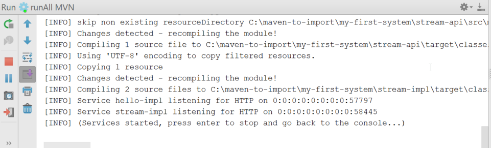Lagom - Importing an existing Maven Project into Intellij